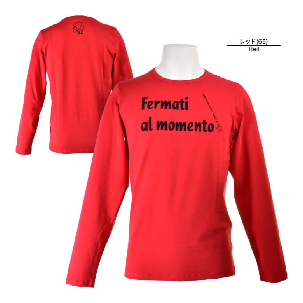 USUALIS ウザリス 長袖Tシャツ メンズ 2019春夏 ストレッチ アップリケ ラインストーン 91-1501-60