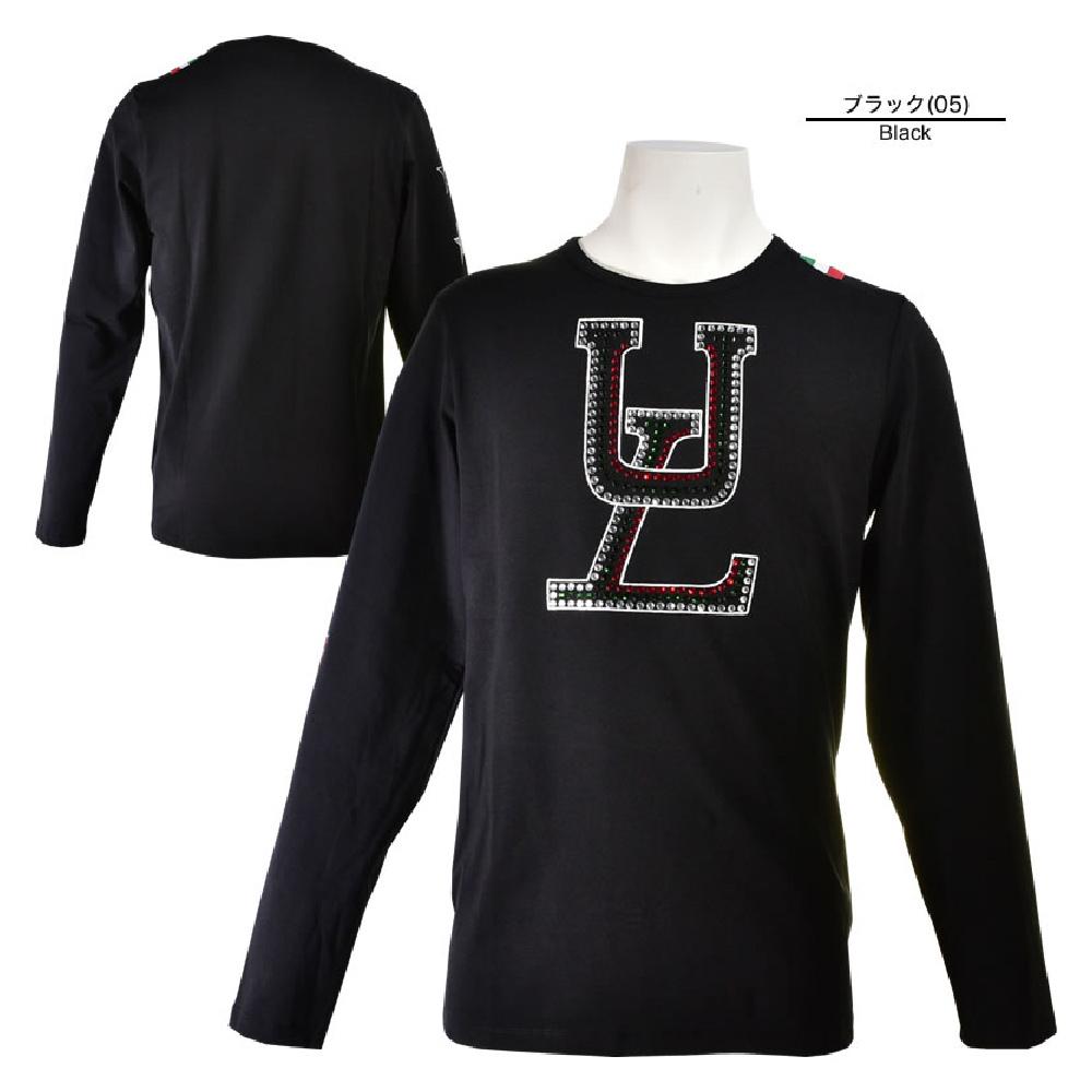 USUALIS ウザリス 長袖Tシャツ メンズ 2019春夏 ストレッチ ロゴ スター ラインストーン 91-1502-60
