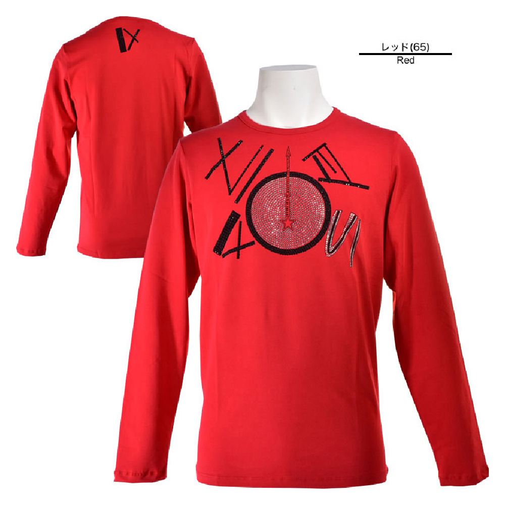 USUALIS ウザリス 半袖Tシャツ メンズ 2019春夏 ストレッチ ラインストーン 91-1503-60