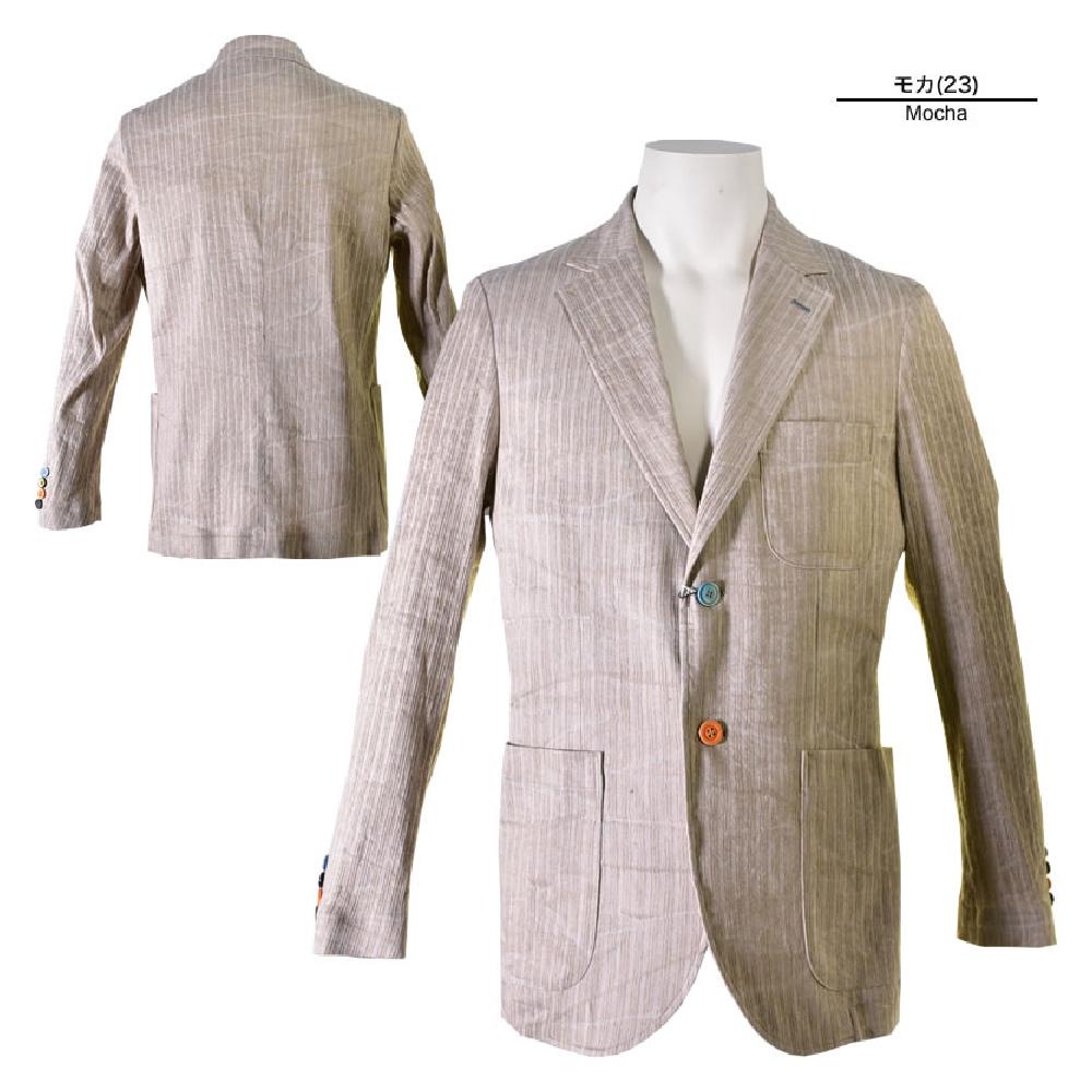 ALCOTT HILL アルコットヒル テーラードジャケット メンズ 2019春夏 麻混 背抜き ボタンカラー 2つボタン 91-4105-10